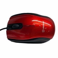 RATON USB UNYKA  1600DPI ROJO  A800